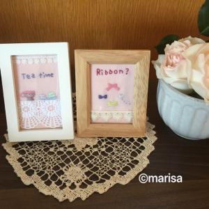 手作り♪刺繍画と好きな本♡