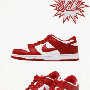 【6月12日(金)発売】Dunk Low SP University Red