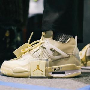【7月25日発売予定】Off-White × Nike Wmns Air Jordan 4 Retro SP Sail