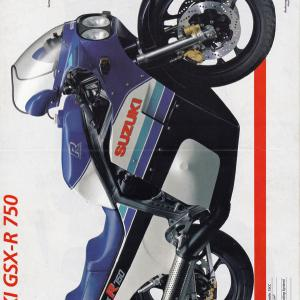 SUZUKI GSXR750/GSX-R750RACING(ドイツ語版)