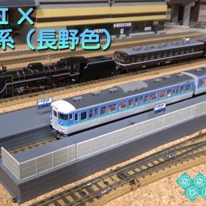 ◆鉄道模型、115系(長野色)室内灯搭載車の走行動画です!