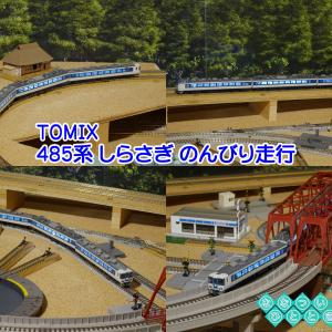 ◆鉄道模型、TOMIXさん、「485系 しらさぎ」のんびり走行