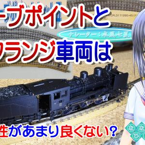 ◆鉄道模型、旧カーブポイントとローフランジ車輪は相性が良くない?…の動画を投稿!