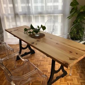完成しました、ダイニングテーブル!