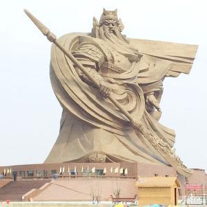 荊州の巨大関羽像