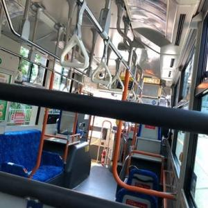 久しぶりにバスに乗りました。