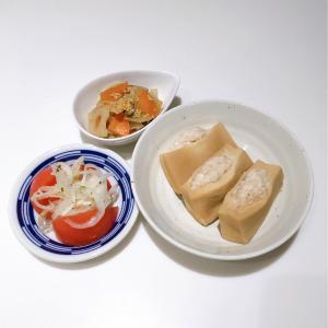 *11/1  高野豆腐の肉詰め*