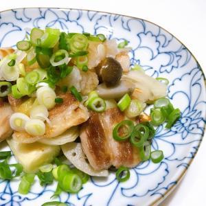 *2/17  豚バラと野菜の炒め物 おろしポン酢がけ*