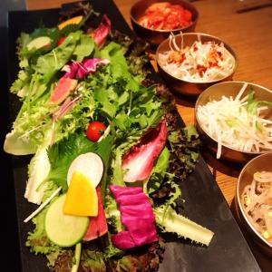 【銀座】「サムギョプサルと野菜いふう」で豚と野菜を食べまくる