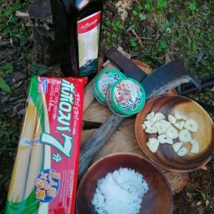 ひとりキャンプで食って寝る…で作ってたペペロンチーノつくってみたよ