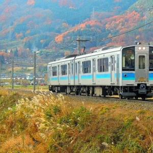 初冬 篠ノ井線を行く117系