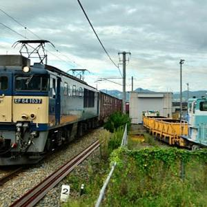 9/13 EF64-1037と保線工事車両