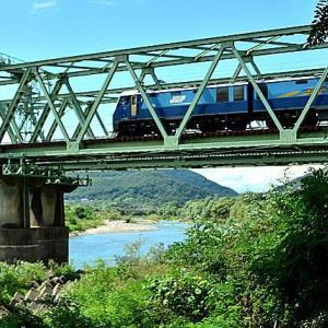 9/14 鉄橋を渡る1770レのブルーサンダー