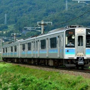 9/16 篠ノ井線の117系の4両編成