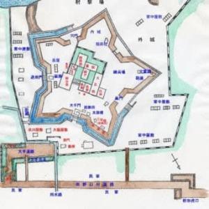 番外編 信州の五稜郭・龍岡城の縄張り図
