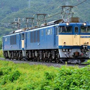9/4 篠ノ井線の臨8087レはEF64-1023+1033号機