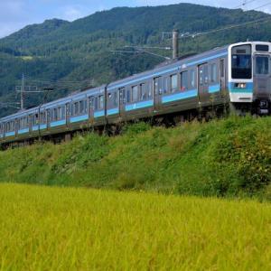 9/25 今日の篠ノ井線の211系と特急・しなの号