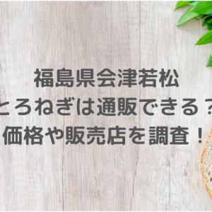 福島県会津若松のとろねぎは通販できる?価格や販売店を調査!【満天☆青空レストラン】2月22日