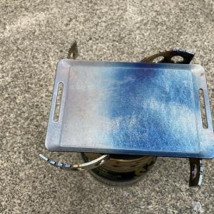 【ソロキャンプごっこ】ダイソーの鉄板をシーズニングしてみた