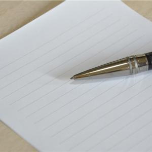 父に最期に渡す手紙を書いている話