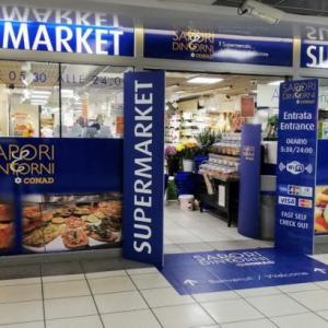 ローマのおみやげ探しにもおすすめ!テルミニ駅地下の便利なスーパーマーケット「コナッド」!