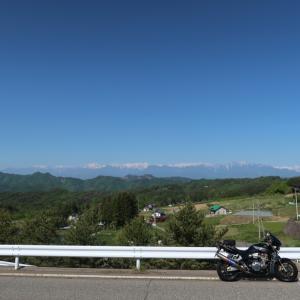 絶景の北アルプスを望む長野県道まったりツーリングコース