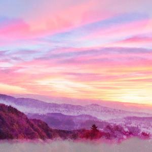 横谷観音展望台の夕焼け 2