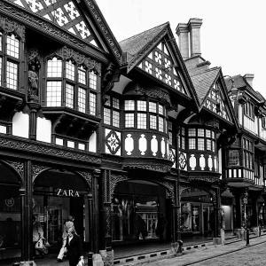 イギリスの旅(モノクロ版) チェスター(Chester) 7