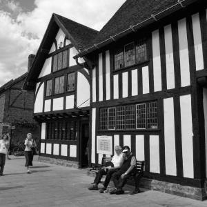 イギリスの旅(モノクロ版) ストラトフォード・アポン・エイボン(Stratford-upon-Avon) 2