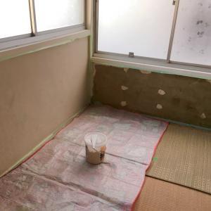 【古家 DIY】実家の2階部屋をDIY⑱ ~3畳間の 漆喰を塗る