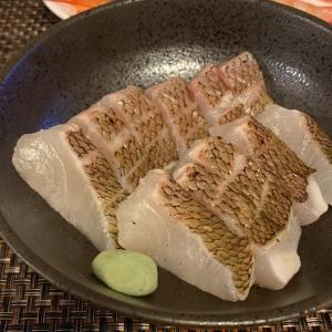 【独酌】久しぶりに真鯛の焼き霜造りを仕込んでみた!!