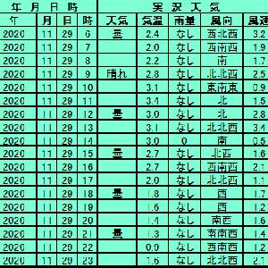 11月29日【札幌】