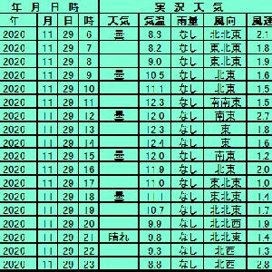 11月29日【東京】