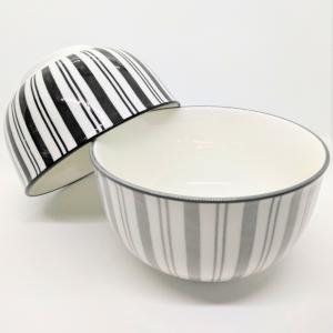 ★キャンドゥ★モノトーンでオシャレすぎる丼茶碗♡