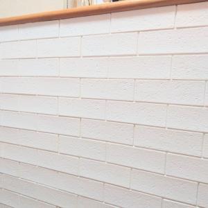 ★ダイソー★リビングの壁 貼り直しました!