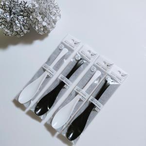 【セリア】白黒いいね〜♡食べやすいスプーン