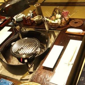上牧温泉 炭火山里料理の宿 辰巳館 夕食