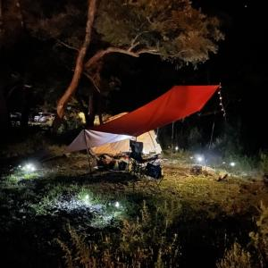 藤助小屋キャンプ場 夜時間