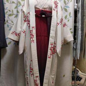麻の葉着物でレトロ袴コーデ