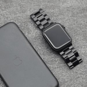 価格に似合わない高級感に驚く ブラックステンレス Apple Watch バンド44mm用 レビュー