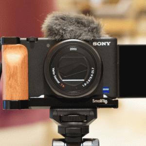 Sony ZV-1の拡張性をアップする SmallRig  ZV-1用L字型ウッドグリップ 2936