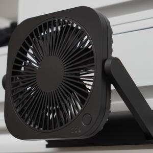 【レビュー】汎用性が高い360度角度調整できる薄型3cmのどこでもFAN コンパクトタイプ