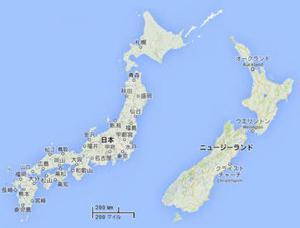 ニュージーランドとオーストラリアの地震