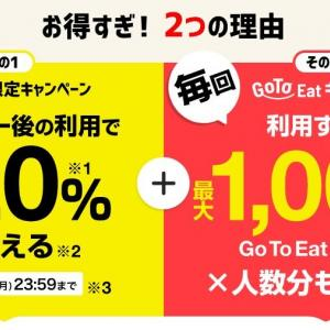 「go to eat キャペーンに挑戦」