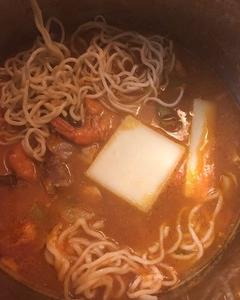 トマトチーズラーメンしゃぶ鍋