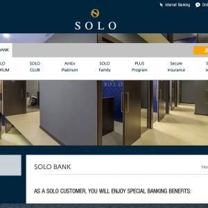 様々な特典があるSolo銀行