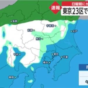 東京23区で1~5cm降雪か