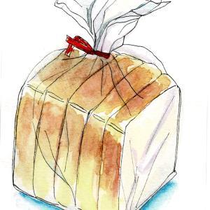 食パン(水彩イラスト)