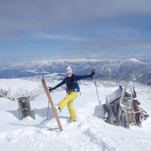 銀杏峰スキー登山