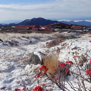 白山は秋から冬へ